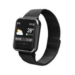 China Stainless Steel Watchband P68 38mm Smart Watch Wireless Charging IP68 Waterproof 15-Day Standby Heart Rate Monitoring for iPhone X Note9 S9+ cheap gps steel suppliers
