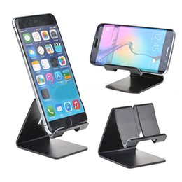 Wholesale Universal Aluminium Alloy Cell Phone Mount Tablet Table Desktop Desk Stand Holder for iPhone Samsung with retail box