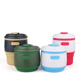 Silicone Dobrável Copa Isolamento Portátil Dobrável Copo De Café Ao Ar Livre Dobrável Copo De Água Chá Café Drinkware ferramentas de cozinha venda por atacado