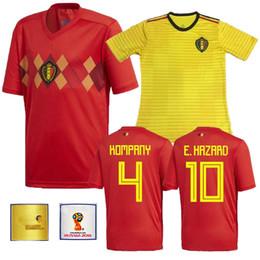 b651f6211 2018 Belgium national team Home Away LUKAKU FELLAINI E HAZARD KOMPANY DE  BRUYNE Soccer Jersey 18 19 Belgium Thailand Quality football shirts