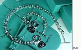 Venda 2018 New Hot AAA designer de jóias vintage Tiffany925 prata esterlina caixas de presente Conjunto TSO1 Frete grátis com caixa Quente