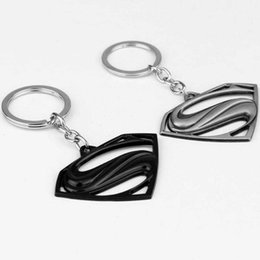 $enCountryForm.capitalKeyWord UK - Superman Keychain Superhero S Logo Zinc Alloy Keyring Gold Silver Black Color Key Chain For Fans Fashion Jewelry Accessories