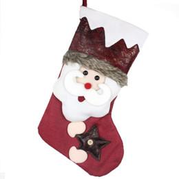 $enCountryForm.capitalKeyWord Australia - 1Pc Stockings Christmas Gift Sweets Bag Sock Ornaments Favors Gif Box Family Display Store Market Drop Scene Decoration Room