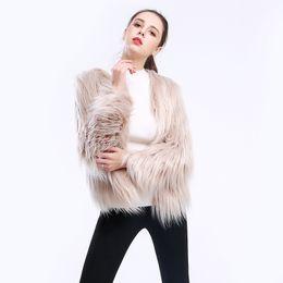 c6ee3d20bc1fe short long-sleeved large size washed wool lamb fake fur imitation fur  women s coat floating hair