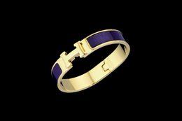 $enCountryForm.capitalKeyWord NZ - 2019 High Quality Celebrity Design Letter Metal Buckle Bracelet Fashion Metal Clover Cuff Bracelets Gold Jewelry With Box