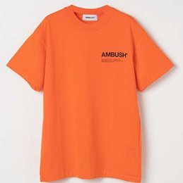 Quality clothes brand online shopping - 4COLORS Ambush a Quality Printed Women Men T shirts tees Hiphop Brand Clothing Men Cotton Short Sleeve T shirt For Summer