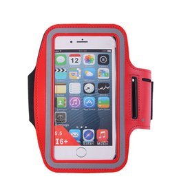 Waterproof arm phone holder online shopping - Waterproof Sports Running Gym Armband Case Exercise Arm Band Neoprene Strap Jogging Fitness Smart Phone Cover Holder Pouch For iPhone Galaxy