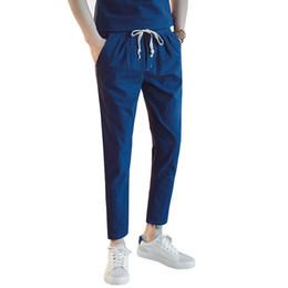 c8c713f3d3f2860 Мужские брюки 2018 весна и лето новый гарем брюки мужской бренд хлопок  белье и длинные случайные шнурок карандаш M-5XL