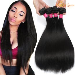 Discount brazilian human hair 28 inches - 8A Brazilian Straight Hair Bundles Unprocessed Human Hair Weave Brazilian Peruvian Indian Virgin Straight Hair Natural C