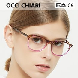 2d7b54eccb09 OCCI CHIARI Eyeglasses Women Frame Clear Lens Myopia optical glasses  Spectacle 2018 Fashion Acetate Eye Glasses Pink Red MEGHA