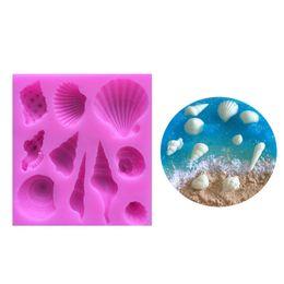 $enCountryForm.capitalKeyWord UK - 2 sizes 10 Holes Lovely Romantic Seashell Sea Shell Silicone Soap Mold 3D Sugarcraft Chocolate Fondant Tools