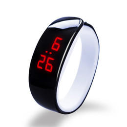 Wholesale Plastic Watch Bands UK - 2018 new hot 10 color Dolphin Bracelet Watch Band Digital Watch Red LED Watches women WristWatch Sport Clock Hours girls gifts