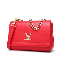 Ladies hand bag brand online shopping - Famous Brand Women Leather Handbags Designer High Quality Luxury Ladies Hand Bag Small Messenger Bags Women Tote V Clutch