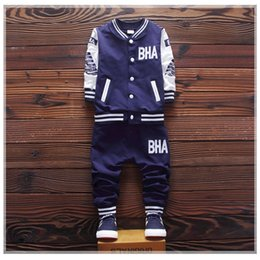 boys clothes years old 2019 - High quality children's clothing set boy long sleeve T-shirt + pants Spring and autumn baby boy sports suit 2-5 yea