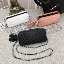 $enCountryForm.capitalKeyWord NZ - Women's handbags Genuine Leather Lambskin 8032A Shoulder Bags Le Boy Flaps V Silver chain Have dust bag 231 Wallets