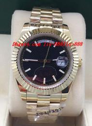 Luxury Watches 2 Style 228238 18K oro giallo nero diagonale quadrante a quadrante 40mm orologio da polso automatico da uomo di marca in Offerta