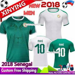 Bateau libre nouvelle 2018 coupe du monde MANE Sénégal Soccer Jersey 18 19 équipe nationale du Sénégal Baldé KOULIBALY maillots de football maillot domicile en Solde