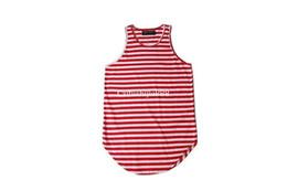$enCountryForm.capitalKeyWord Australia - New Mens t Shirts Stripe Pattern Men Sleeveless T Shirt Justin Bieber Back Long Muscle Tank Tops For Men Wholesale