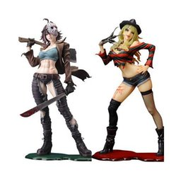 female action figures 2019 - Wholesale 23cm Sexy Freddy Vs Jason Female Version horror bishoujo PVC Action figure Toys Top Quality cheap female actio