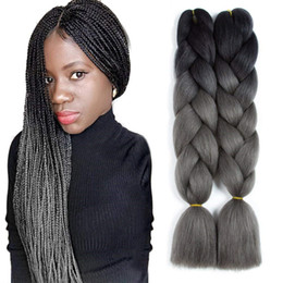 kanekalon braiding hair wholesale Canada - 100% Kanekalon Jumbo Braiding Hair Extensions Kanekalon 48Inch 100g Pack African Hair Braiding Synthetic Crochet Braids Hairstyles