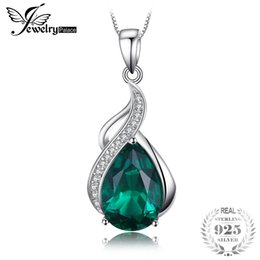 $enCountryForm.capitalKeyWord Australia - JewelryPalace Women 3.5 ct Nano Russian Simulated Emerald Pendant Pure Solid 925 Sterling Silver Jewelry Without Silver Chain S18101308
