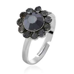 Cluster Rings For Womens Australia - 2018 Fashion Womens Rings Jewelry Trendy Stainless Steel Rings for Women Rhinestone Party Ring Adjustable