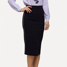 6c1edae9aa New Summer Long Skirt Women Black Side Webbing High Waist Casual Pencil  Skirt EleLady Office Plus Size XS-5XL Talever