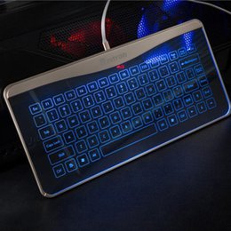 touch computer keyboard 2019 - Ultra Slim Compatible B6 Wired Keyboard Comfortable Full-size Touch Keyboard Computer PC Keyboard#ZS cheap touch compute