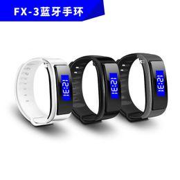 Male hand bands online shopping - Latest FX Bluetooth Earphone Smart Bracelet Sport Wristband Bracelet Band Passometer Pedometer Hands free Headset for mobile phone