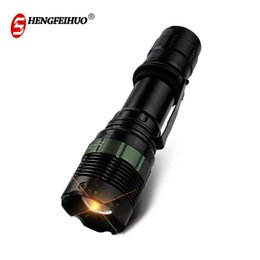 Waterproof Divers Torch Australia - LED Zoom Aluminum Alloy Highlight Flashlight Portable Waterproof Torches For Camping Fishing Hiking 3 Lighting Modes Lights Free Shipping