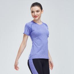 $enCountryForm.capitalKeyWord NZ - Women's Yoga Shirts Gym Breathable Sport Jersey Running Compression Dry Quick Short Sleeve Workout Woman Sport Fitness Tshirt