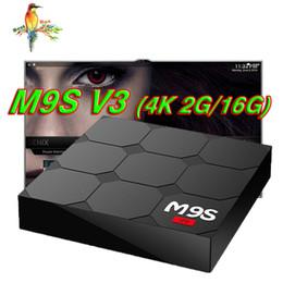 Internet Bluetooth NZ - Rockchip RK3229 M9S V3 Android Box Quad Core Android 6.0 OTT TV Box 1gb 8gb 2G 16G Bluetooth WiFi HDMI 4K Internet TV BOX