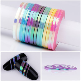 $enCountryForm.capitalKeyWord NZ - 1Pcs 1mm DIY Nail Striping Tape Line Mermaid Candy Color Adhesive Sticker Decals Nail Art Tool Manicure Decoration