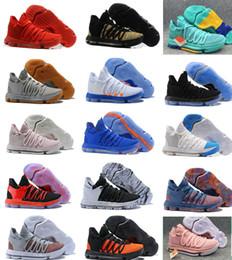 cheap for discount 58e15 d7eec 2018 Korrekte Version KD 10 EP Basketball Schuhe für Top-Qualität Kevin  Durant X kds 10s Regenbogen   Wolf grau KD10 FMVP Sport Turnschuhe USA 7-12
