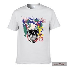 $enCountryForm.capitalKeyWord Australia - The Most Popular T-Shirts,Coloured Paint Skeleton Printed T-Shirts.