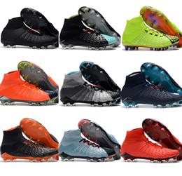 Hypervenom Phantom High Tops NZ - Mens High Top Football Boots Hypervenom Phantom III DF FG Soccer Shoes MagistaX Superfly Outdoor EA Sports Cleats Neymar