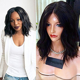 $enCountryForm.capitalKeyWord NZ - Short Curly Full Lace Human Hair Wigs For Black Women Brazilian Virgin Hair Glueless Short Bob Wavy Lace Front Wig With Baby Hair