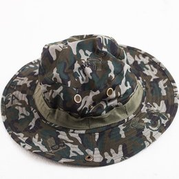 ACI-403 Summer Wide Brim Sun Hats Men Women Anti-UV Visor Caps Outdoor  Camouflage Cap Fishing Hunting Breathable Mesh Chapeu masculino 5a72fef7d3a0
