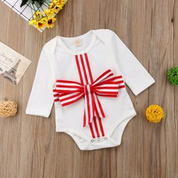 792519a6167 2019 Newborn Baby Girl Clothes Christmas Baby Romper Summer Cotton Kids  Clothes Bowknot Romper Jumpsuit Outfit Infant Toddler Clothing 0-24M