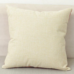 40x40 cm natural poli lençóis de linho fronha de almofada para DIY sublimação planície serapilheira capa de almofada bordados em branco venda por atacado