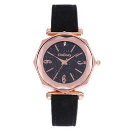 $enCountryForm.capitalKeyWord UK - Fashion Sparkling Polygon Dial Analog Faux Leather Band Women Quartz Wrist Watch reloj mujer