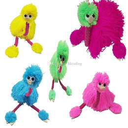 hand puppets for kids 2019 - 36cm 14inch Decompression Toy Marionette Doll Muppets Animal muppet hand puppets toys plush ostrich Marionette doll for