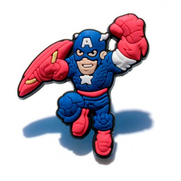 Kids Party Packs NZ - 20+ Cool Avenger Figure Cartoon PVC Badges Brooches Button Clothes Bag Shoes Packed by Gift Bag Decorations Kid Party Gift Accessory Badges