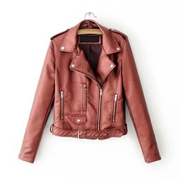 leather zippers Australia - Autumn New Short Faux Soft Leather Jacket Women Fashion Zipper PU Leather Jacket Ladies Basic Street Coat VKCO1020