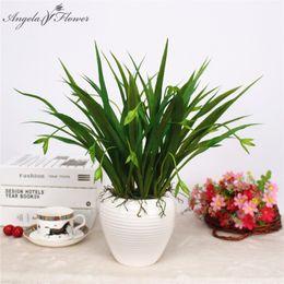 Artificial Small Grass NZ - Artificial flower wholesale small hanging orchid grass simulation plant DIY wedding home garden decor fake flower Chlorophytum