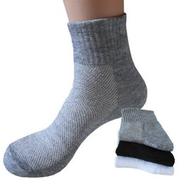 White Cotton Ankle Socks Canada - 10 Pairs  Lot Fashion Men Short Mesh Socks Summer Cotton Ankle Socken Casual Male Sox Skateboard White Fun Soks Calcetines Cheap