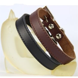 Leather coLLars dogs online shopping - Adjustable PU Leather Dog Collars With Metal Buckle Pet Chaplet Breathable Soft Puppy Necklet Colorful Durable cl4 Y