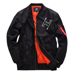 Chinese  High Design Air Force One Couple Mens Ma1 Bomber Jacket Pilot Jacket Embroidery Sport Windbreak Sweethearts Outfit Jackrt Coat manufacturers