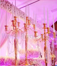 Şamdan Düğün Masa Dekor Altın Vintage Avrupa Tarzı Şamdan Lüks Alaşım El Sanatları Ev Metal Mobilya Gümüş Oyma Şamdan