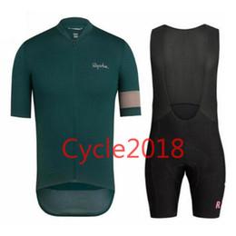 Red black blue cycling jeRsey online shopping - Rapha team summer Tour de France cycling jersey Anti UV bib shorts set MTB bike wear clothes Ropa Ciclismo pro cycling clothing